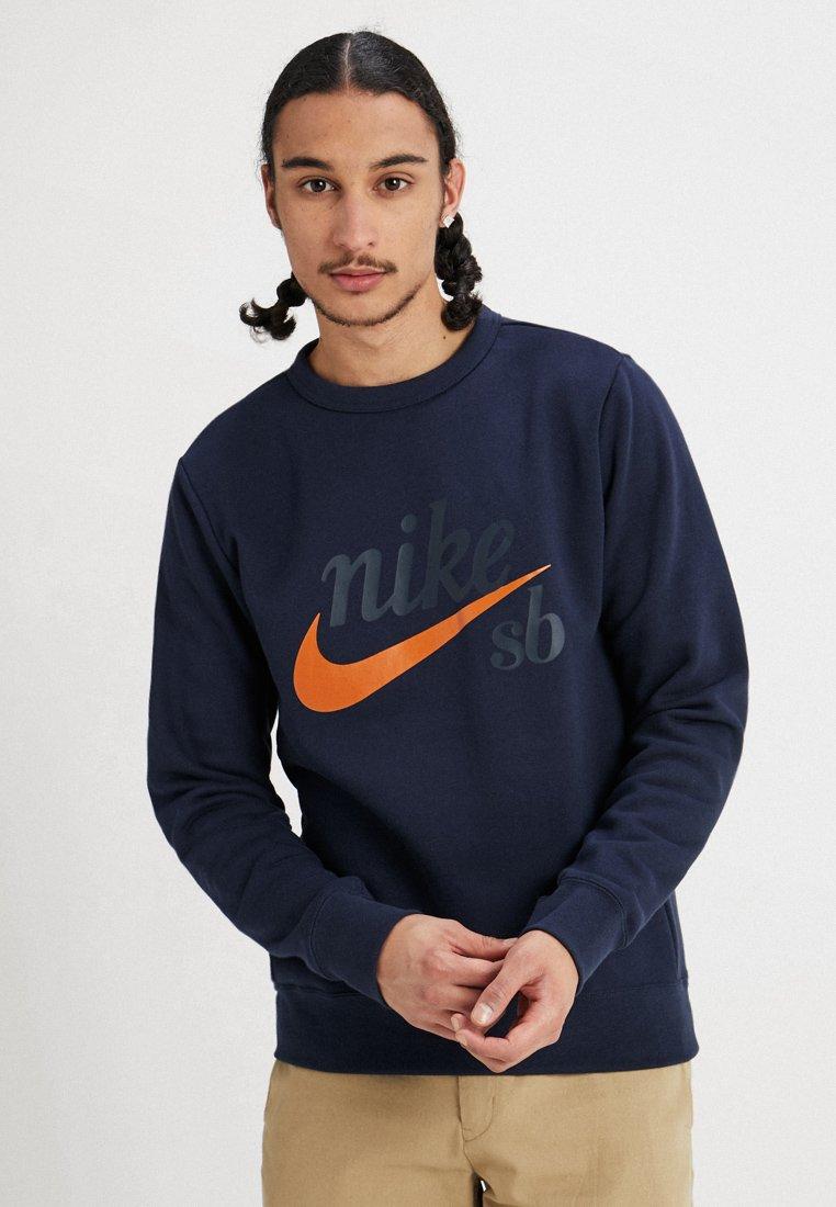 Nike SB - TOP ICON CRAFT - Sweatshirt - obsidian/cinder orange