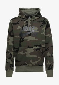 Nike SB - HOODIE ICON - Luvtröja - medium olive/black - 4