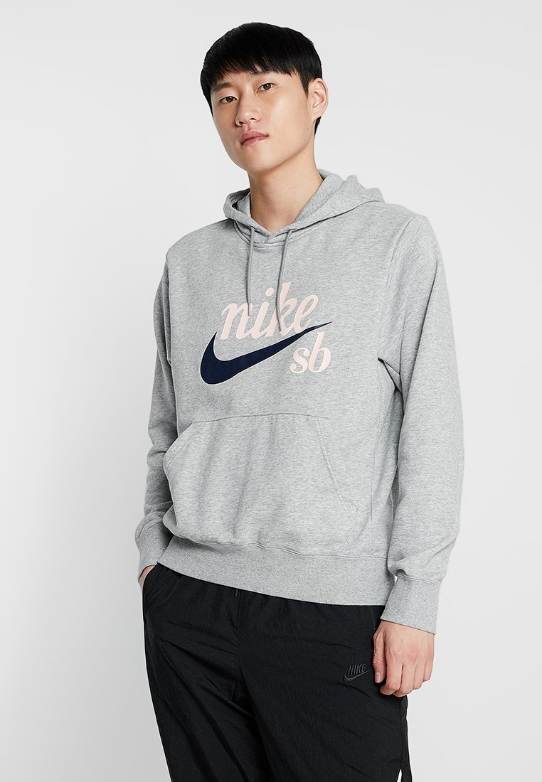 Nike SB - HOODIE WASHED ICON - Hoodie - grey heather