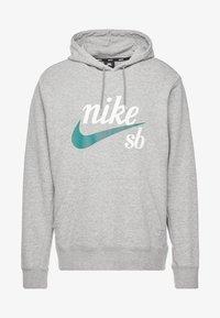 Nike SB - HOODIE WASHED ICON - Jersey con capucha - dark grey heather/summit white - 3