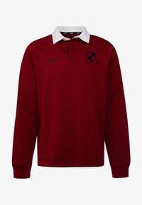 Nike SB - RUGBY - Sweatshirt - team red/white/dark obsidian - 4