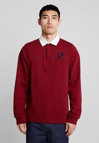Nike SB - RUGBY - Sweatshirt - team red/white/dark obsidian - 0