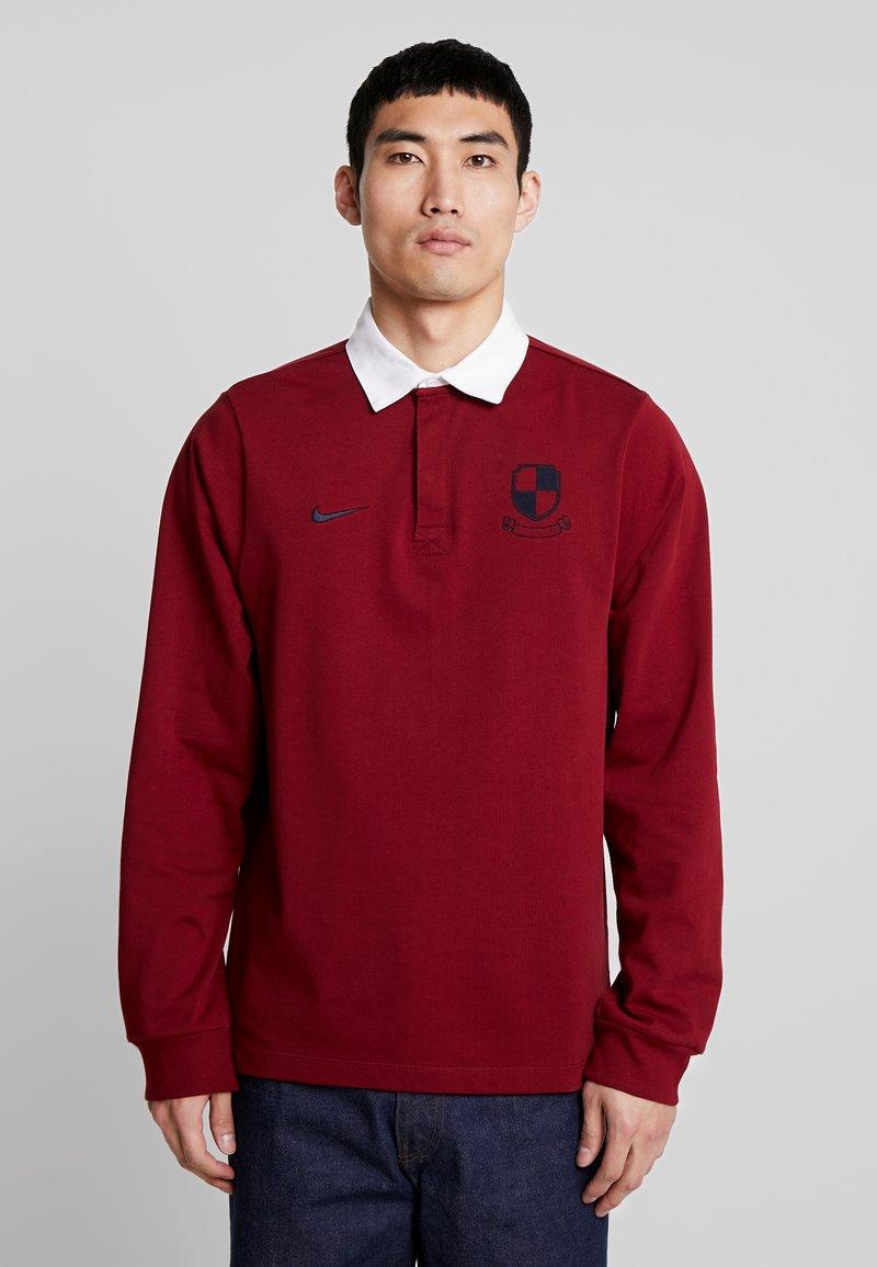 Nike SB - RUGBY - Sweatshirt - team red/white/dark obsidian