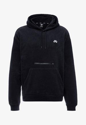 NOVELTY - Bluza z kapturem - black/white