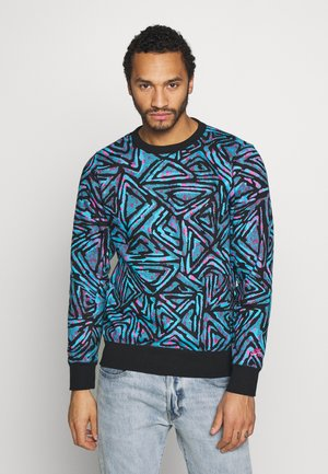 Sweatshirt - laser blue/black/watermelon