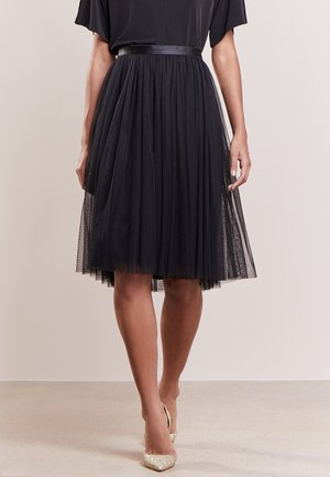 TULLE MIDI SKIRT - A-Linien-Rock - black