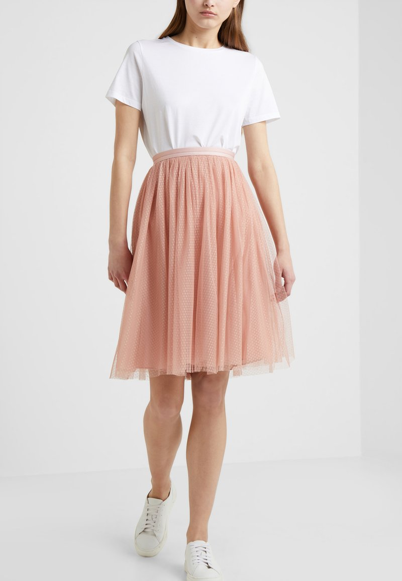 Needle & Thread - DOTTED MIDI SKIRT - A-Linien-Rock - vintage rose