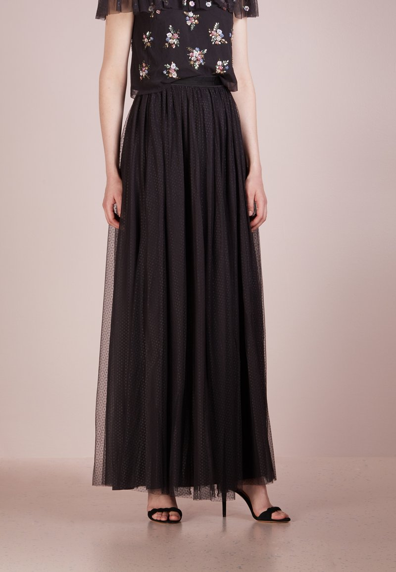 Needle & Thread - DOTTED MAXI SKIRT - Maxi skirt - graphite