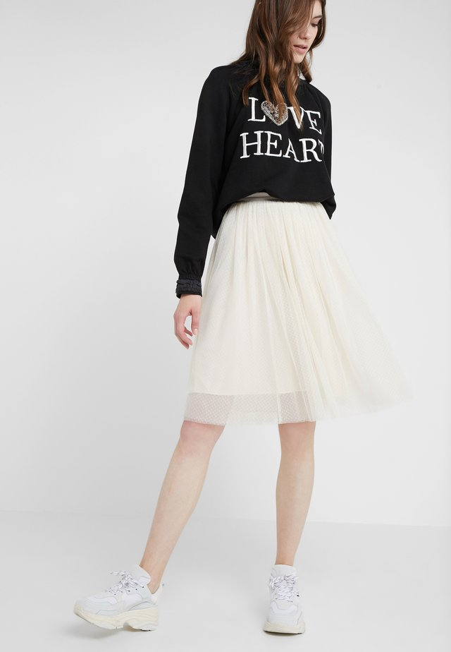 MIDI SKIRT - A-Linien-Rock - champagne
