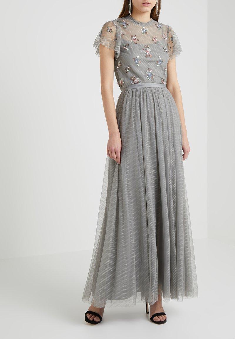 Needle & Thread - DOTTED MAXI SKIRT - A-line skirt - ash