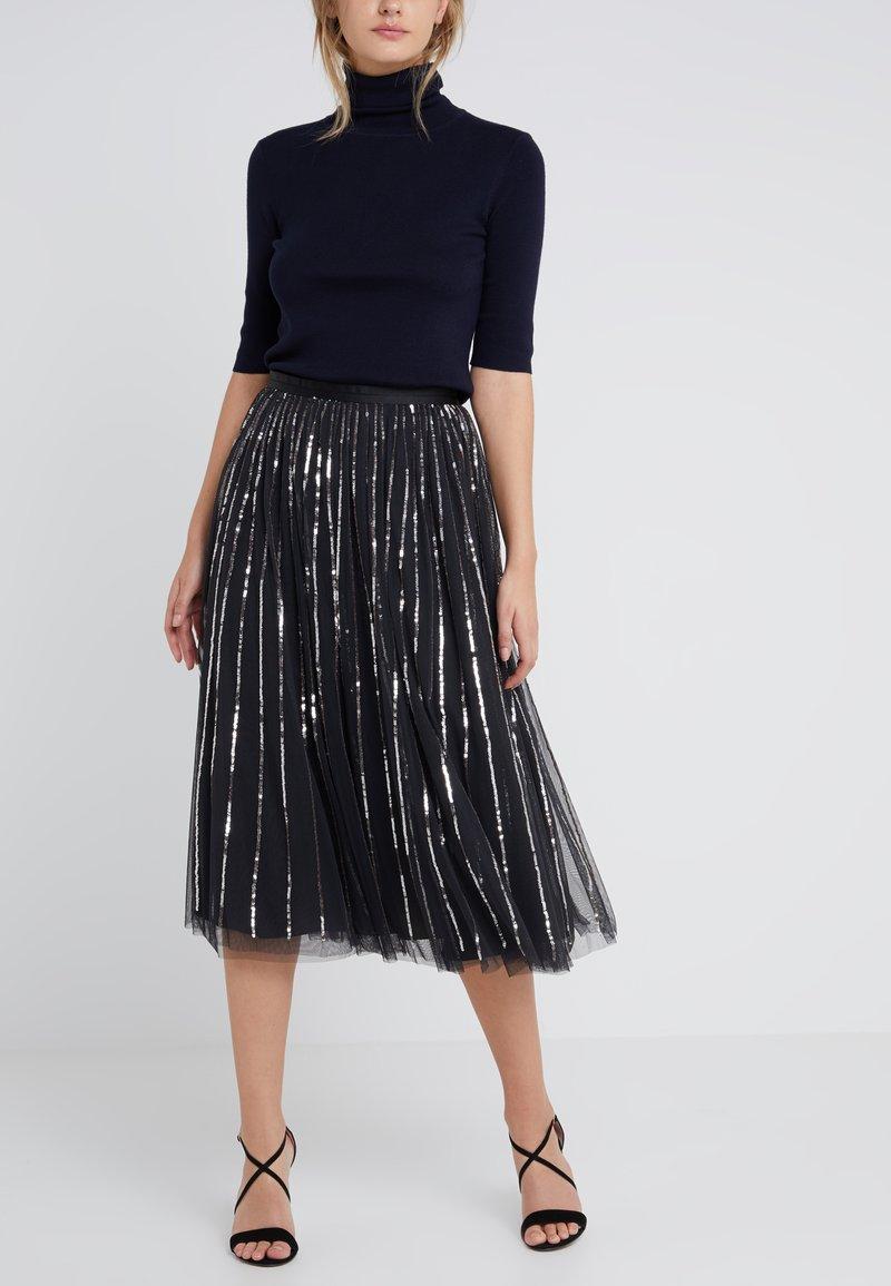 Needle & Thread - SEQUIN MIDAXI SKIRT - A-snit nederdel/ A-formede nederdele - washed black