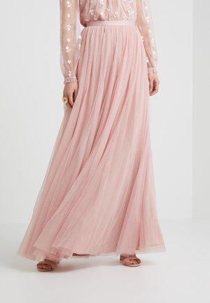 DOTTED MAXI SKIRT - Plisovaná sukně - rose pink