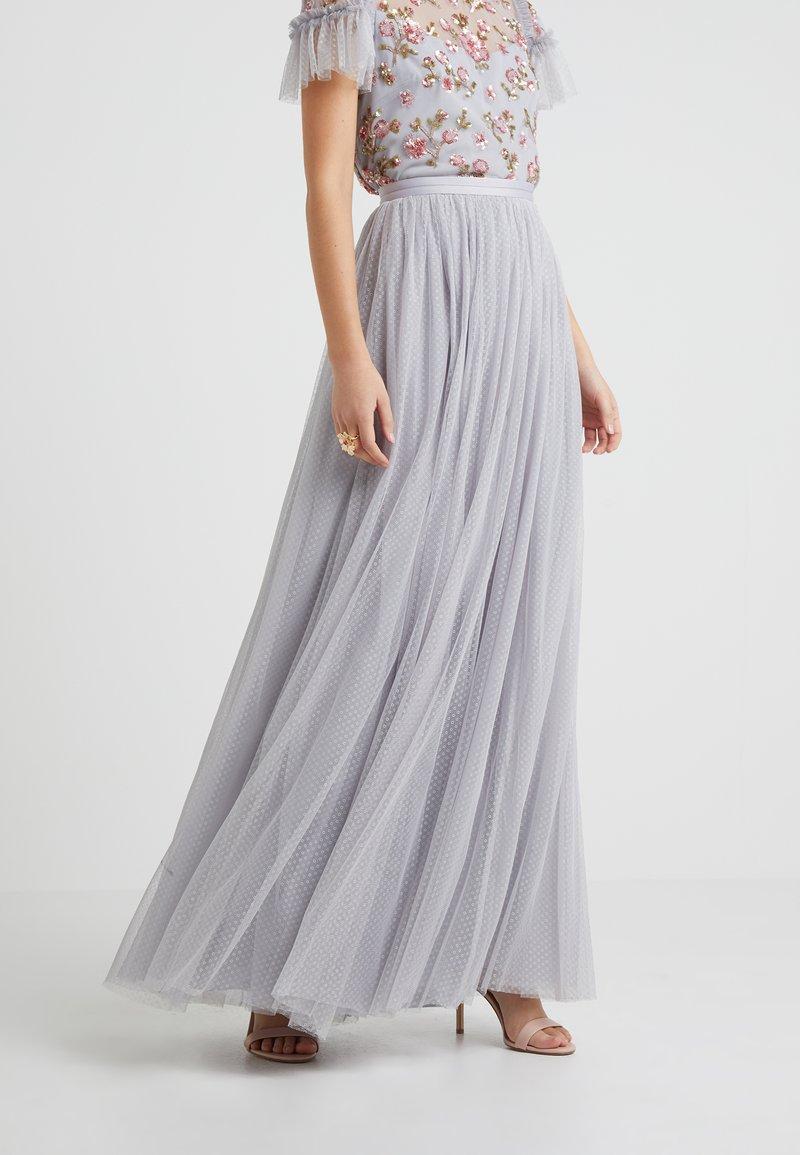 Needle & Thread - DOTTED MAXI SKIRT - Pleated skirt - dusk blue