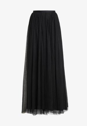 DOTTED MAXI SKIRT - Falda plisada - ballet black