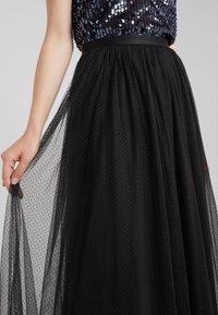 Needle & Thread - DOTTED MAXI SKIRT - Pleated skirt - ballet black - 4