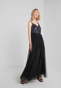 Needle & Thread - DOTTED MAXI SKIRT - Pleated skirt - ballet black - 1