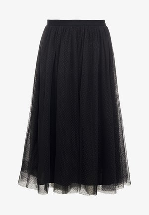 DOTTED MIDI SKIRT - A-line skirt - graphite