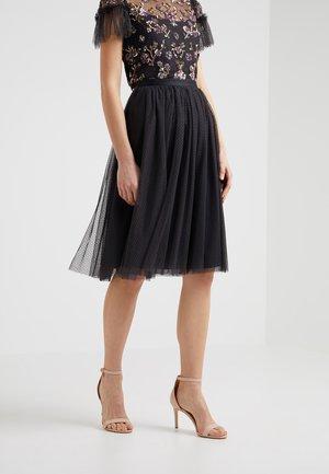 DOTTED MIDI SKIRT - Áčková sukně - graphite