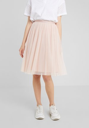DOTTED MIDI SKIRT - A-line skirt - powder pink