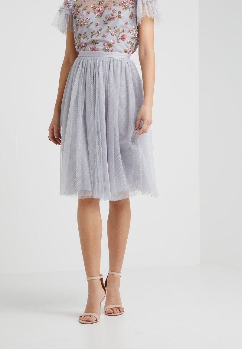 Needle & Thread - DOTTED MIDI SKIRT - A-line skjørt - dusk blue