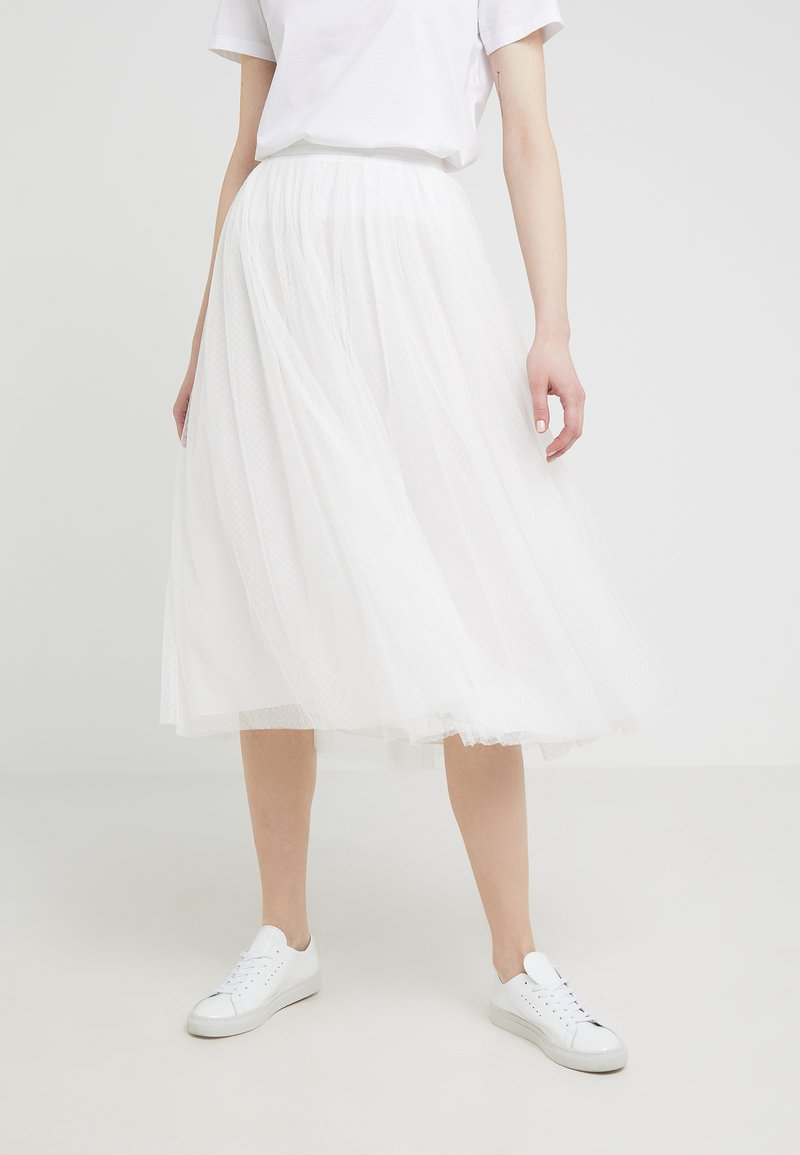 Needle & Thread - DOTTED SKIRT - Spódnica trapezowa - ivory