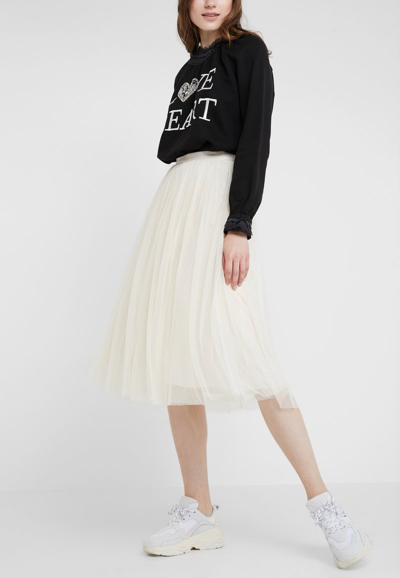 Needle & Thread - DOTTED SKIRT - A-linjekjol - champagne