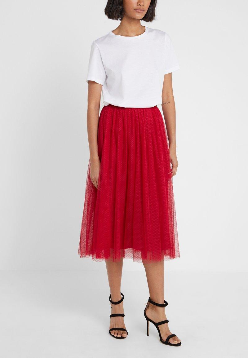 Needle & Thread - DOTTED SKIRT - A-line skirt - deep red