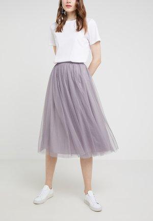 DOTTED SKIRT - Áčková sukně - vintage lavender