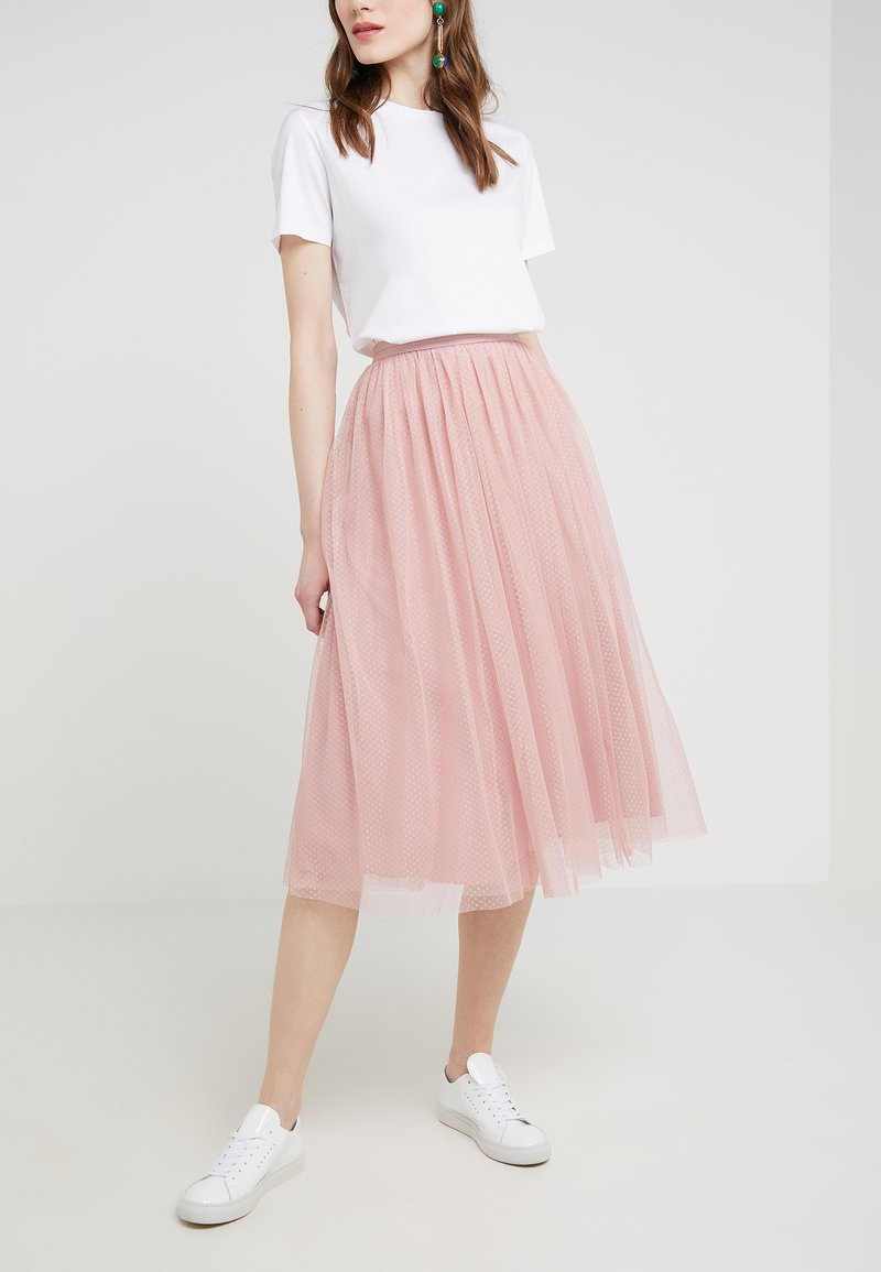 Needle & Thread - DOTTED SKIRT - A-line skirt - rose petal