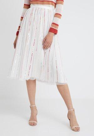 SHIMMER MIDAXI SKIRT - A-line skirt - white