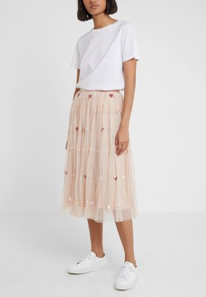 LOVEHEART  MIDAXI SKIRT - Áčková sukně - rose quartz