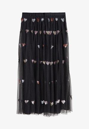 LOVEHEART  MIDAXI SKIRT - Áčková sukně - graphite