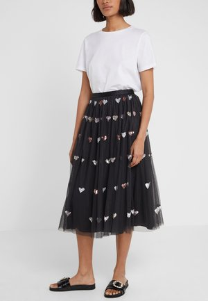 LOVEHEART  MIDAXI SKIRT - Gonna a campana - graphite