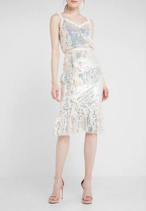 SCARLETT  SKIRT - A-line skirt - champagne/silver