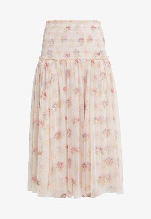 THINK OF ME SMOCKED BALLERINA SKIRT - A-line skirt - champagne