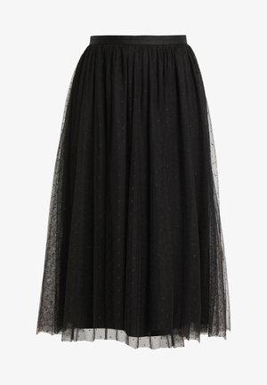KISSES TULLE MIDAXI SKIRT - Maxi skirt - ballet black