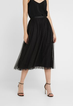 KISSES TULLE MIDAXI SKIRT - Maxikjol - ballet black