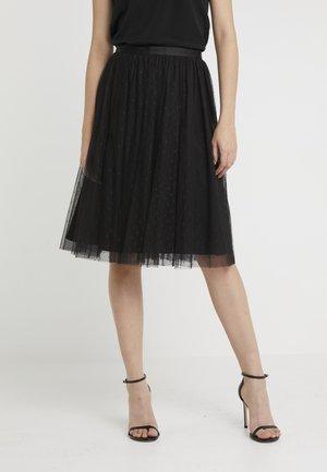 KISSES TULLE MIDI SKIRT - Plisovaná sukně - ballet black