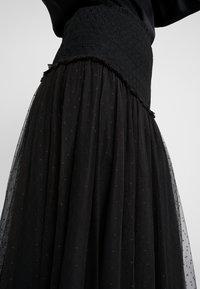 Needle & Thread - SMOCKED KISSES BALLERINA SKIRT - Jupe trapèze - ballet black - 4