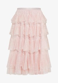 Needle & Thread - FLORALSCALLOPED MIDAXI SKIRT - A-line skirt - french rose - 4