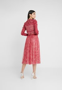 Needle & Thread - FLORAL MIDAXI SKIRT - A-linjekjol - cherry red - 2