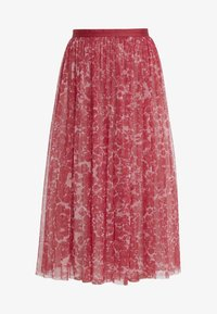 Needle & Thread - FLORAL MIDAXI SKIRT - A-linjekjol - cherry red - 4