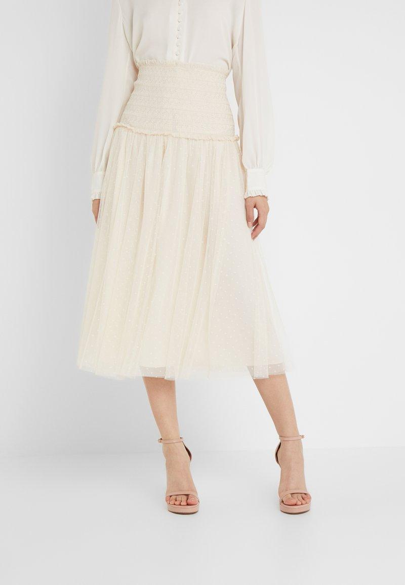 Needle & Thread - SMOCKED KISSES BALLERINA SKIRT - Pencil skirt - champagne