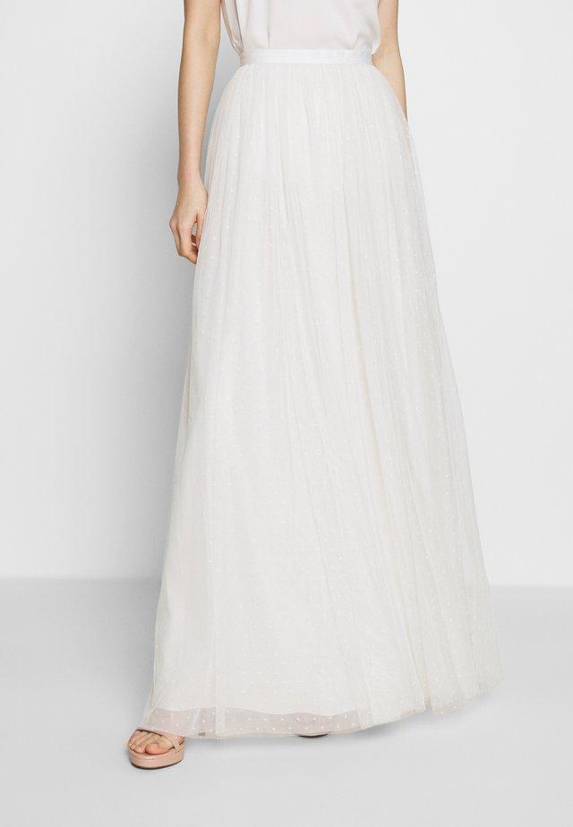 KISSES SKIRT - Maxi skirt - white