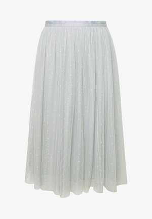 KISSES MIDI SKIRT - A-line skirt - blue diamond