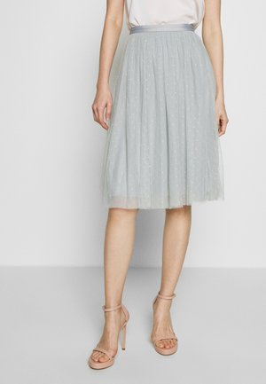 KISSES MIDI SKIRT - A-lijn rok - blue diamond