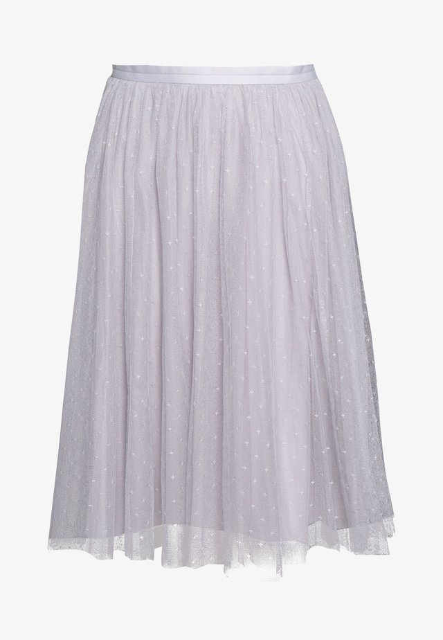 KISSES MIDI SKIRT EXCLUSIVE - A-line skirt - dusk blue