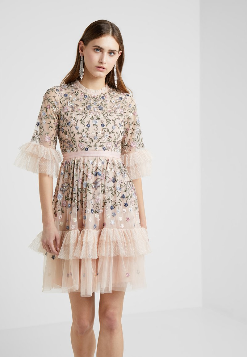 Needle & Thread - DUSK FLORAL DRESS - Cocktailklänning - rose quartz