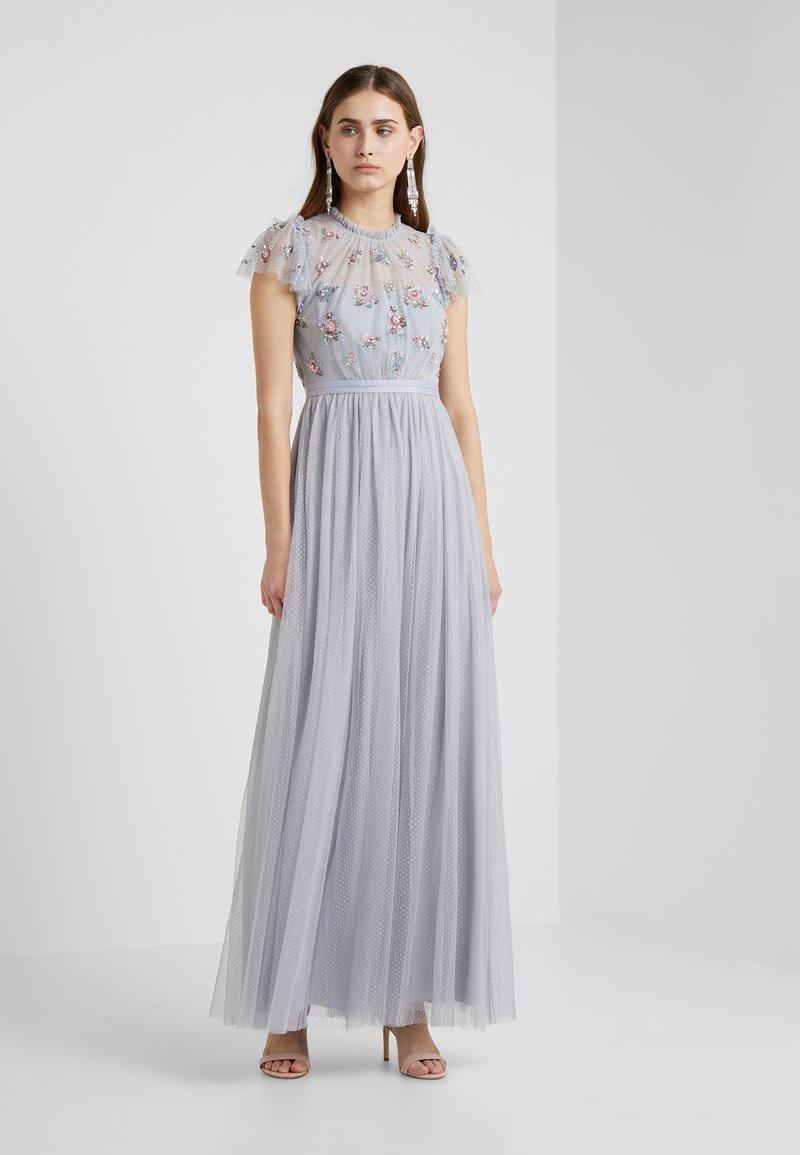 Needle & Thread - ROSE SEQUIN BODICE GOWN - Robe de cocktail - dusk blue