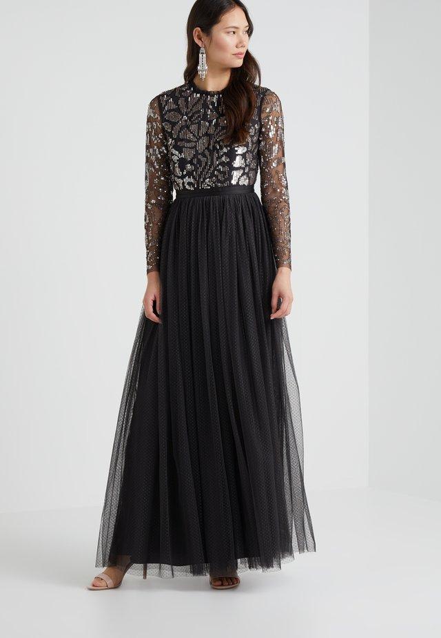 FLORAL MAXI DRESS - Ballkleid - graphite/silver